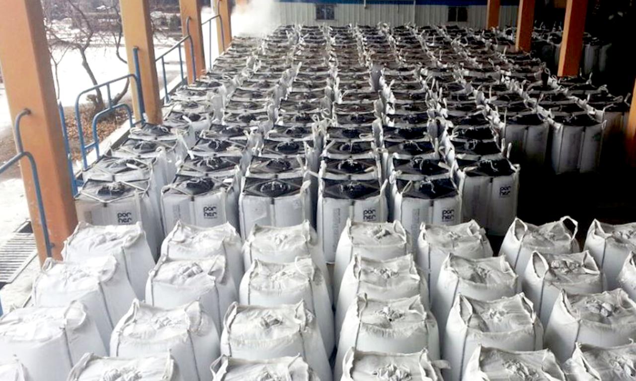 Storage of Pörner Bitumen Bags™ in cold climate